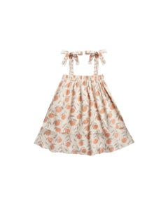 Rylee and Cru Natural Peaches Shoulder Tie Dress