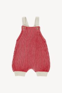Brick Red and Natural Field Romper