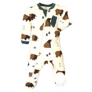 Little Grizzle Footed Babysuit
