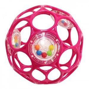 Oball Rattle Ball - Pink