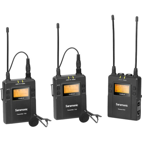 Saramonic UwMic9 2-Person Camera-Mount Wireless Omni Lavalier Microphone System (514 to 596 MHz)