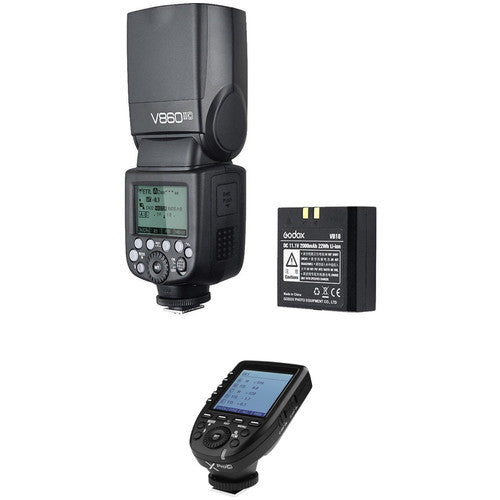 Godox VING V860IIC TTL Li-Ion Flash with XProC TTL Trigger Kit for Canon Cameras