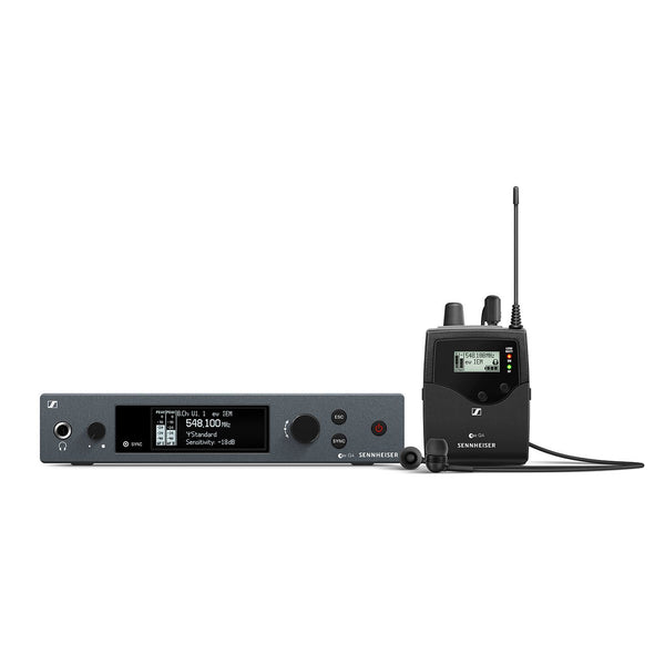 Sennheiser EW IEM G4 Wireless In-Ear Monitor Set with Rack Mount TX, Body Pack RX, IE4 Ear-Canal Headphones