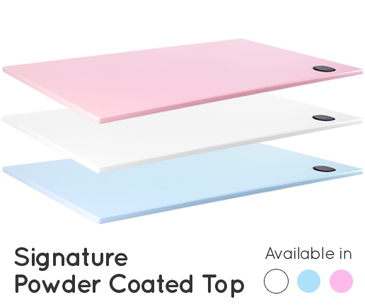 Powder Coated Wood Tops