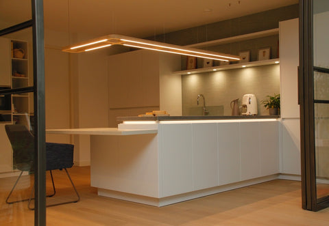 KuvaLight | Custom Made designer light above a kitchen counter