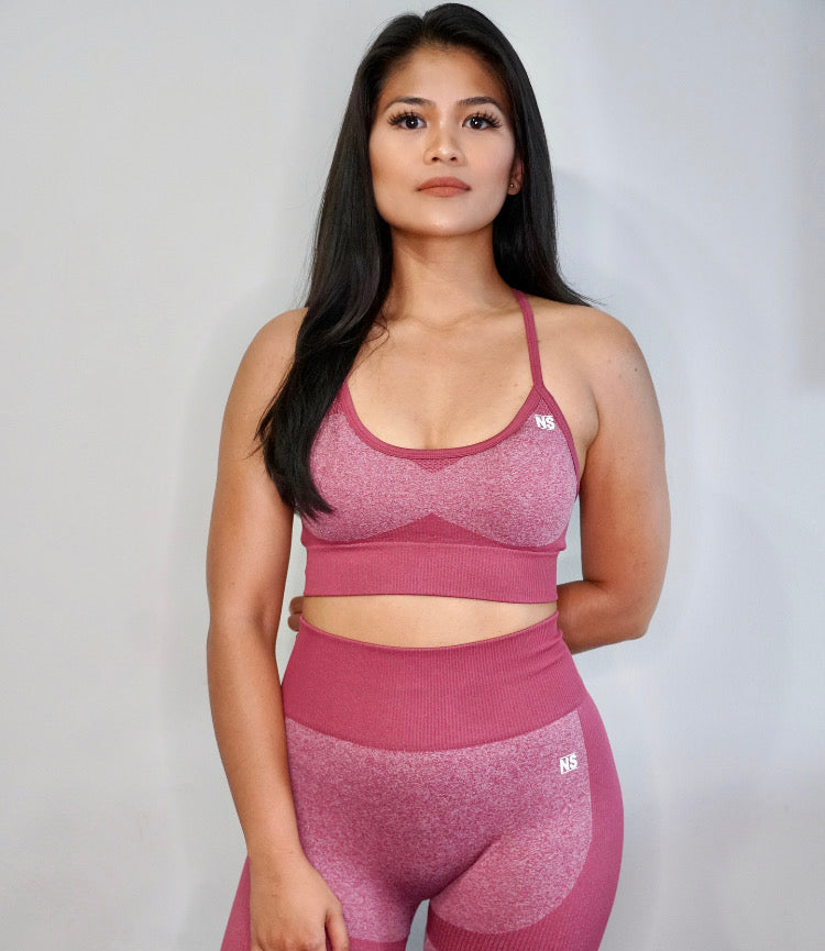 Impact Seamless Sports Bra- Red Earth (5557592096933)