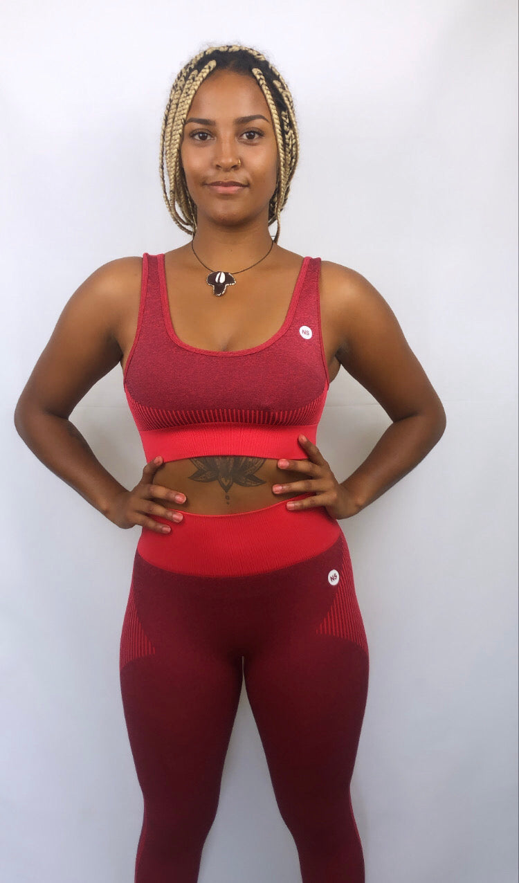 Ultra Red Seamless Sports Bra (5569862107301)