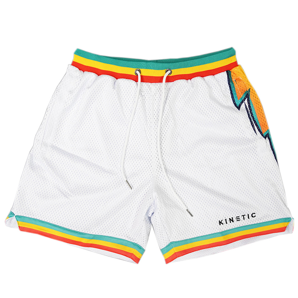 Lightning Bolt Short - White
