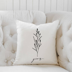 PCB Home - Grow Wildflower Throw Pillow