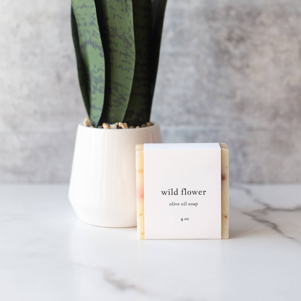 Wild Flower Olive Oil Soap