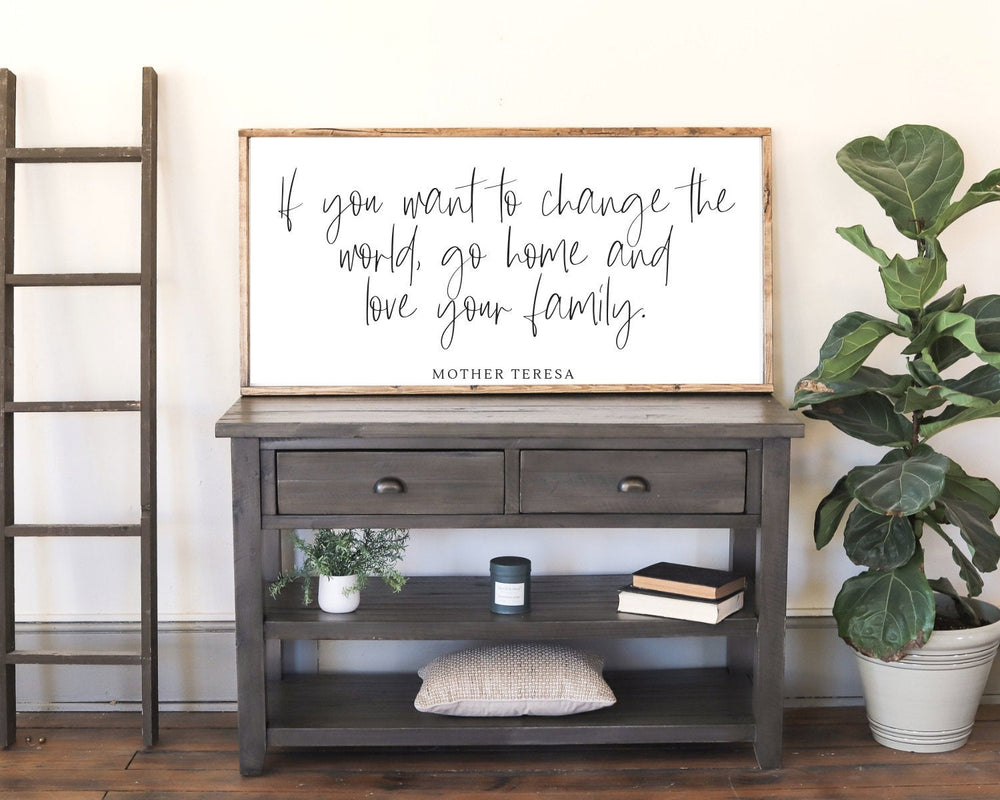 Load image into Gallery viewer, Mother Teresa Wood Modern Farmhouse Sign