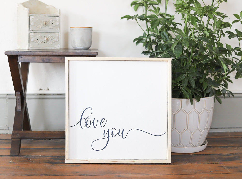 I love You Sign | Wall decor | Farmhouse wall decor |  Living room large wall art | Above the Bed Decor