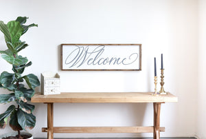 Welcome Modern Farmhouse Sign
