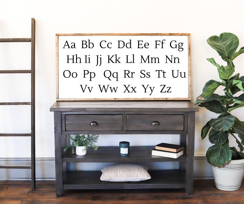 Alphabet Sign | Playroom Wall Decor | Farmhouse Kids Room | Farmhouse Wall Decor