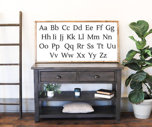 Load image into Gallery viewer, Alphabet Sign | Playroom Wall Decor | Farmhouse Kids Room | Farmhouse Wall Decor