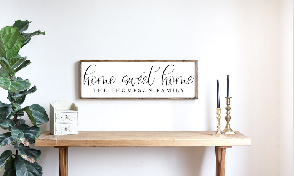 Home Sweet Home Modern Farmhouse Family Sign