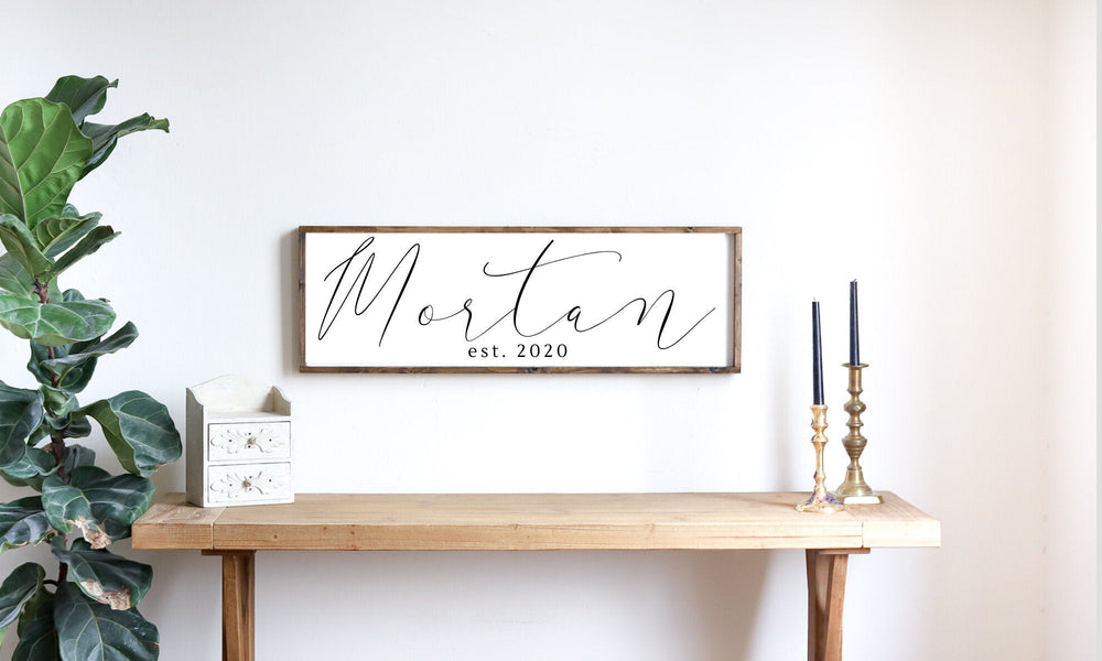 Last Name Sign Modern Farmhouse