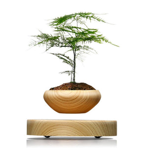Magnetic Levitation Led Flower Pot Plant Decoration
