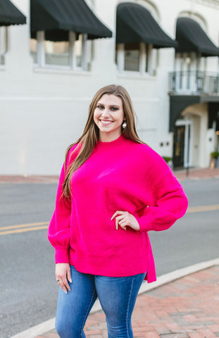 Summer Dreams Sweater, Hot Pink