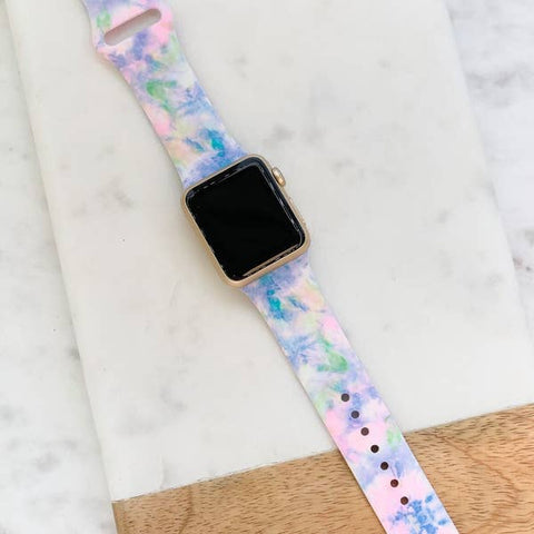 Watercolor Printed Silicone Smart Watch Band