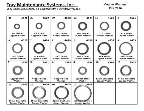 Copper Washer Assortment