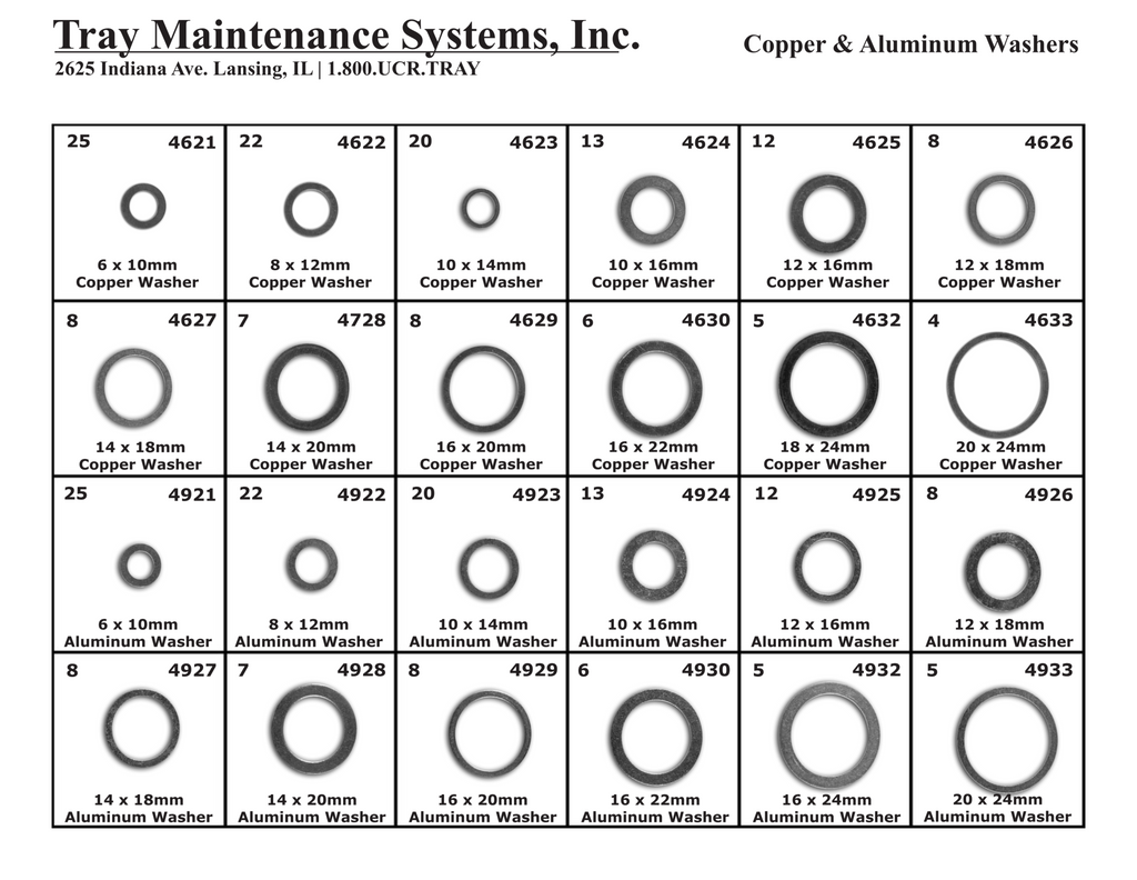 Copper & Aluminum Washer Assortment