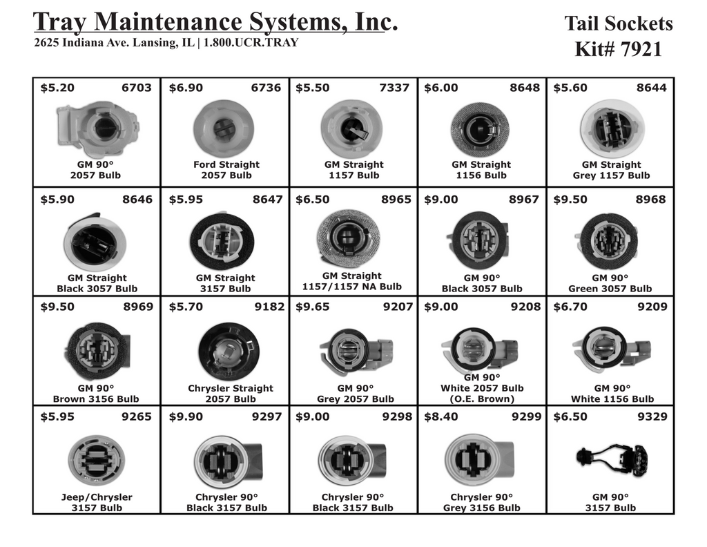 Tail Light Socket Assortment