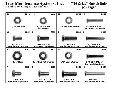 "7/16""-1/2"" USS Nuts & Bolts Assortment"