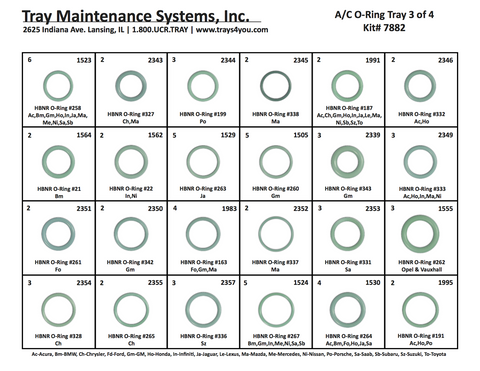 A/C O-Ring Assortment #3