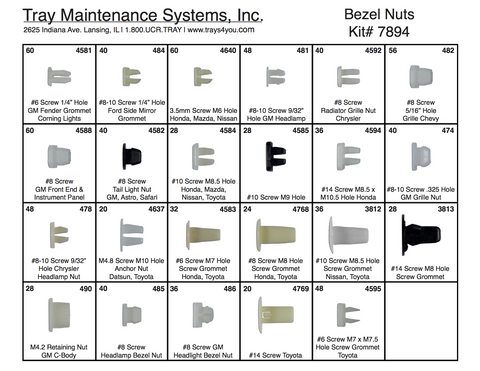 Bezel Nut Assortment