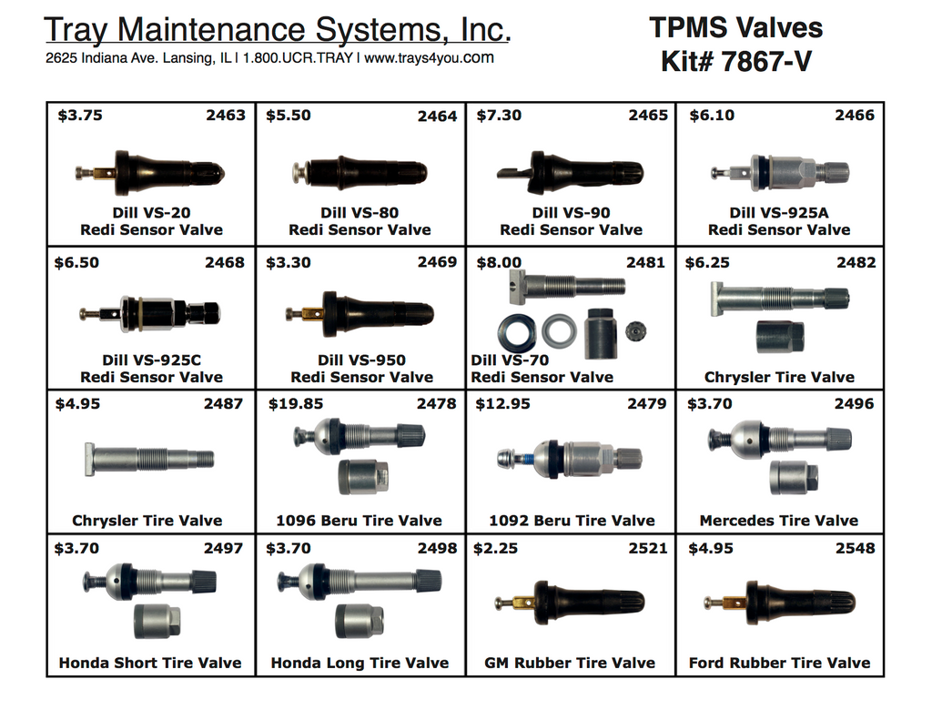 Dill TPMS Valves Assortment
