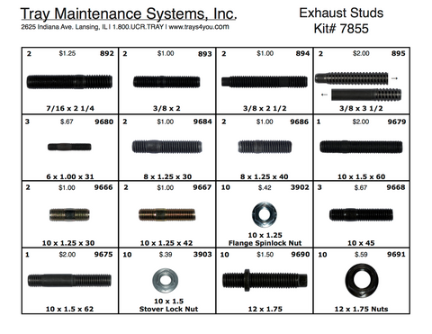 Exhaust Stud Assortment