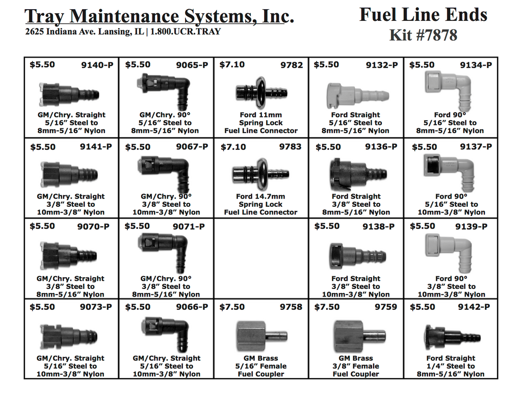 Plastic Fuel Line Ends Assortment