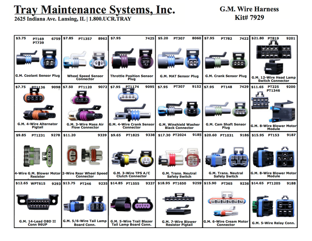 GM Wire Harness Assortment