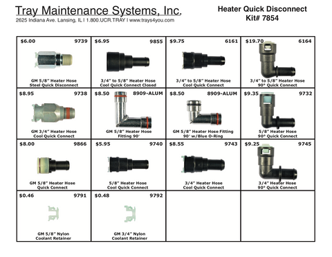 Heater Quick Disconnect Assortment