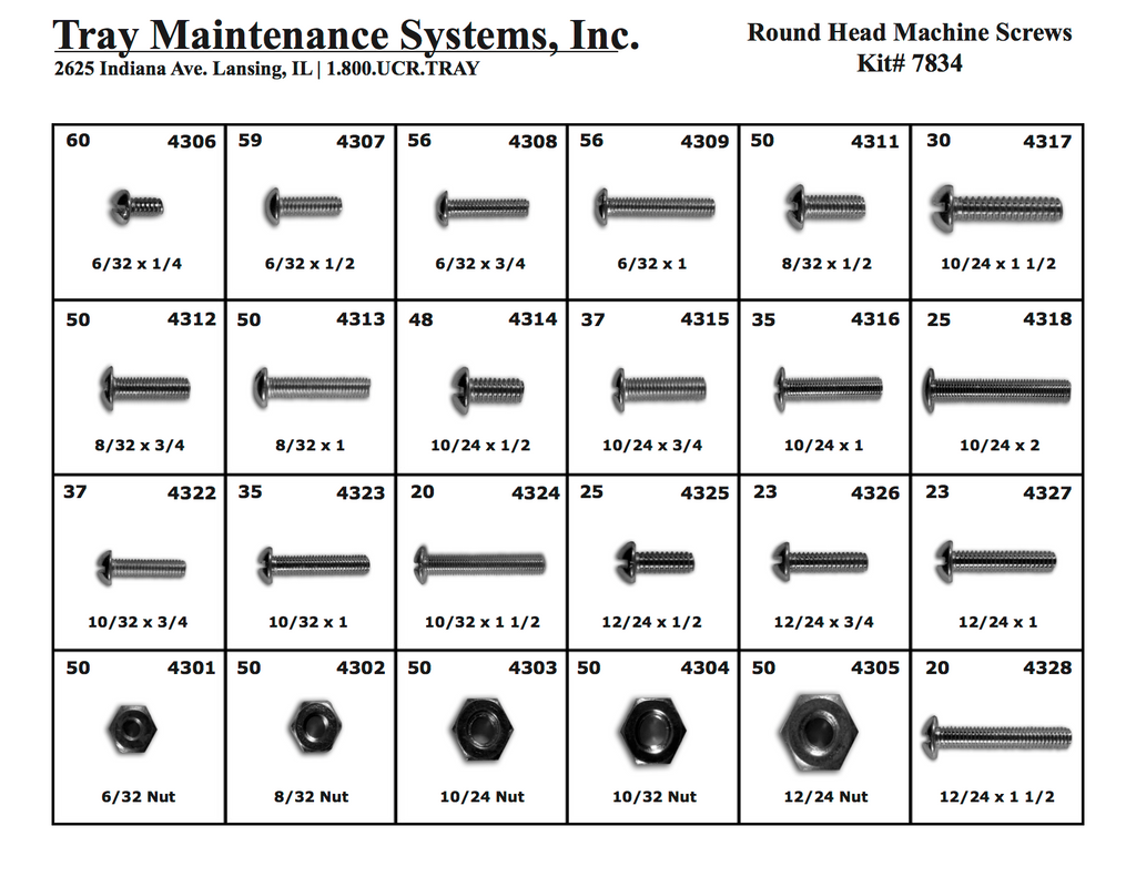 Round Head Machine Screw Assortment
