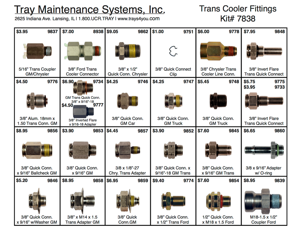 Trans Cooler Fittings