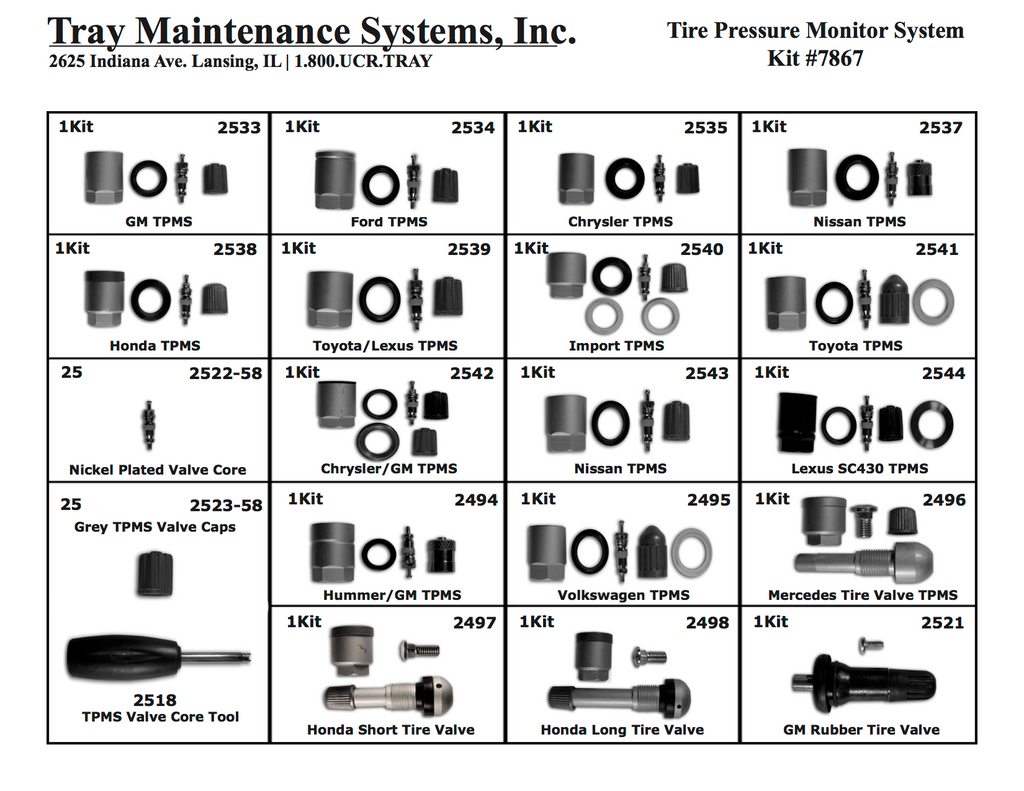 TPMS Valve Repair Assortment
