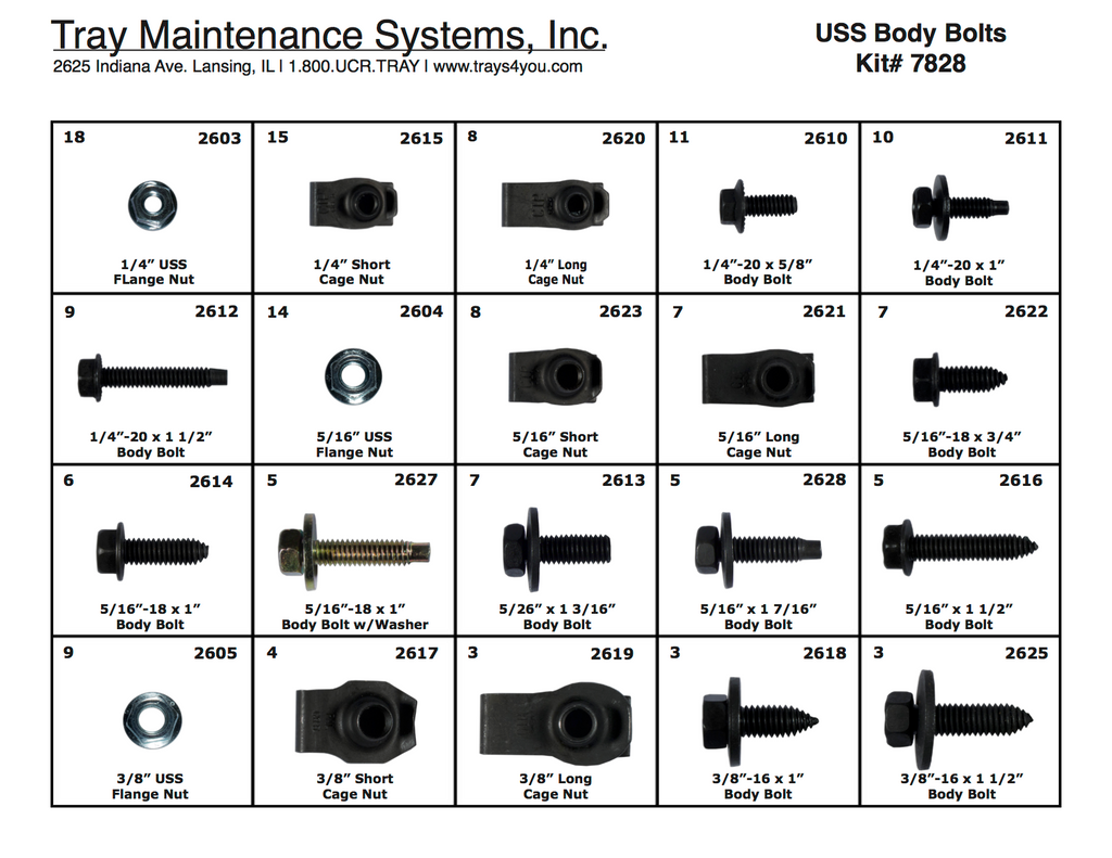 USS Body Hardware Assortment