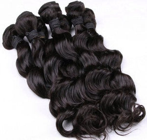 Platinum Virgin Peruvian Pearl Natural Wave Hair Single 12-34""
