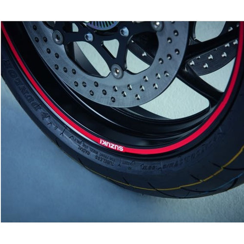 Suzuki Wheel Decal Outer (Single Wheel) Solid Red GSX-S1000 / F