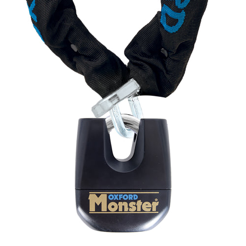 Oxford Monster 12mm Square Chain & Padlock