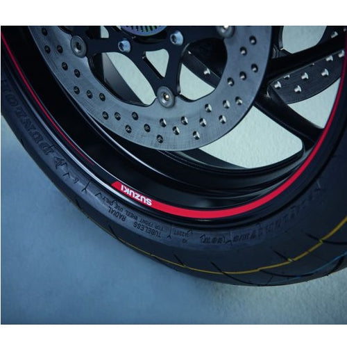 Suzuki Wheel Decal Outer (Single Wheel) Red/Clear GSX-S1000 / F