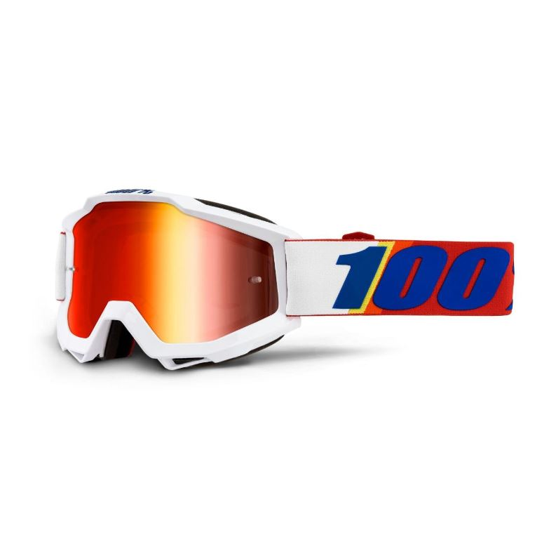 100% Accuri Goggle Minima / Red Mirror Lens