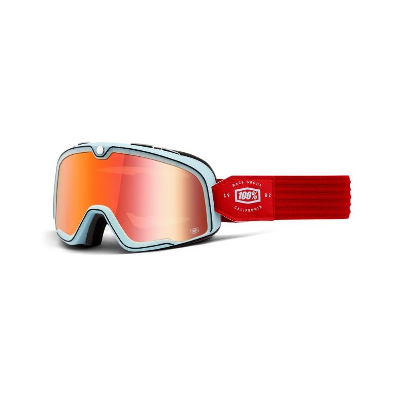 100% Barstow Goggle Carlyle / True Red Lens