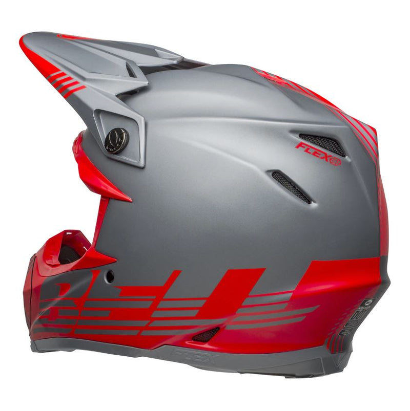 Bell MX 2021 Moto-9 Flex Louver Matte Gray/Red