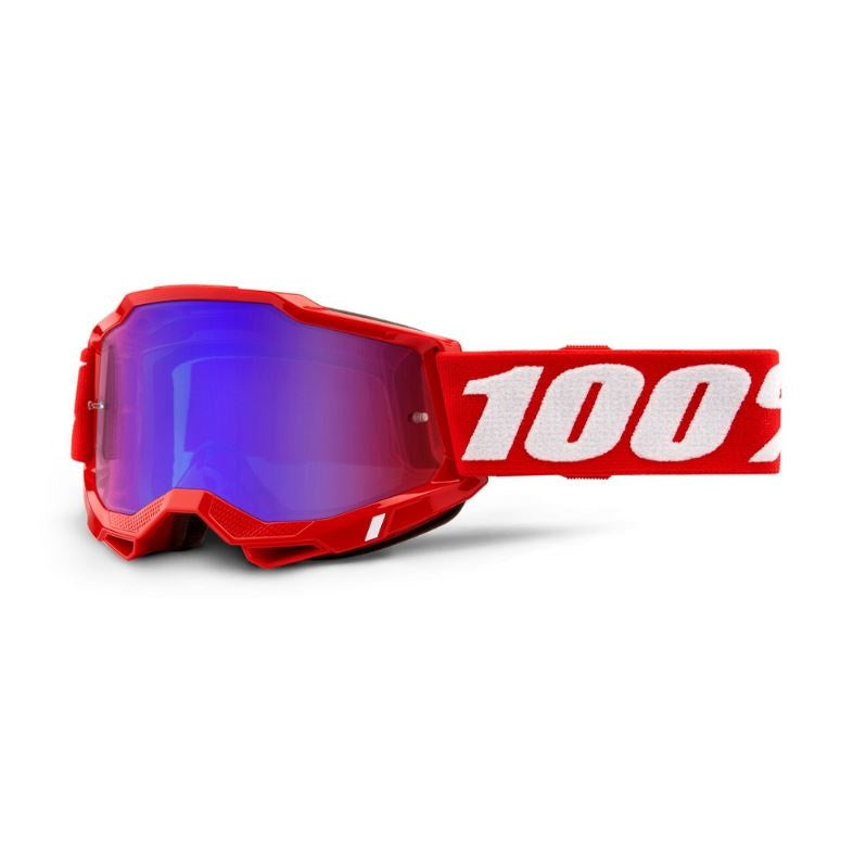 100% Accuri 2 Goggle Red / Red/Blue Mirror Lens