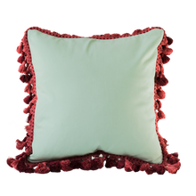 Load image into Gallery viewer, Pom pom: Mint Green & Wine Red
