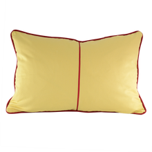 Load image into Gallery viewer, Lumber: Sandy Yellow & Pompei Red piping w/ wavey trim