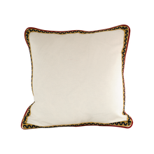 Load image into Gallery viewer, Piping with wavey trim: Pompeii Red & Cream